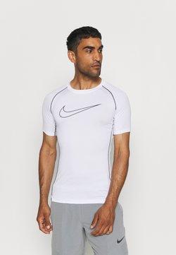 Nike Performance - TIGHT - T-Shirt print - white/black