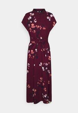 Vero Moda - VMHALLIE LONG TIE DRESS - Blusenkleid - dark red