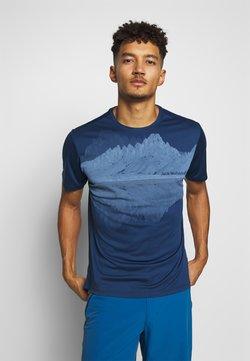 Jack Wolfskin - PEAK GRAPHIC - T-Shirt print - dark indigo