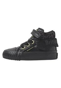 British Knights - ROCO - Baskets montantes - black/dk grey leopard/gold/bla