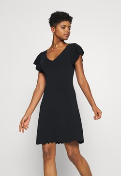 Forever New - VANESSA FLUTTER SLEEVE DRESS - Jerseyjurk - black