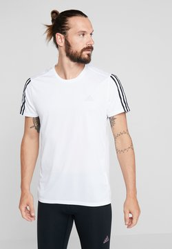 adidas Performance - RUN 3S TEE - Camiseta estampada - white/black