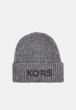 Michael Kors - EMBROIDERD HAT UNISEX - Czapka - ash melange/charcoal