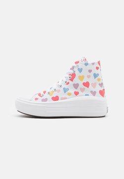 Converse - CHUCK TAYLOR ALL STAR MOVE HEARTS UNISEX - Zapatillas altas - white/pink salt