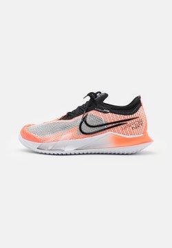Nike Performance - REACT VAPOR - All court tennisskor - white/black/bright mango/volt
