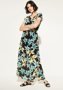 comma casual identity - MIT TUNNELZUG - Maxikleid - black flowers