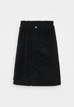 Noisy May Tall - NMJUDO PAPERBAG SKIRT - Minirock - black