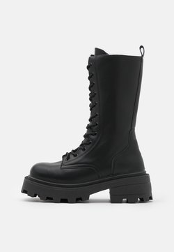 Topshop - KANA LACE UP BOOT - Lace-up boots - black