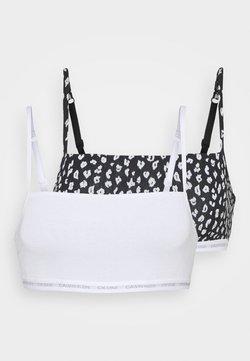 Calvin Klein Underwear - UNLINED BRALETTE 2 PACK - Brassière - white/black