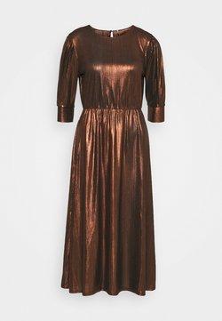 ONLY - ONLCOCKTAIL SHINE DRESS - Cocktailkleid/festliches Kleid - black/cappuccino