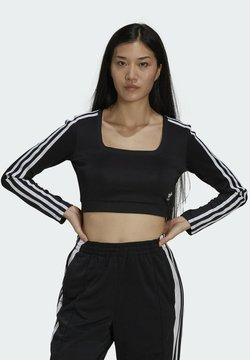 adidas Originals - LONG SLEEVE ADICOLOR FITTED - Langarmshirt - black