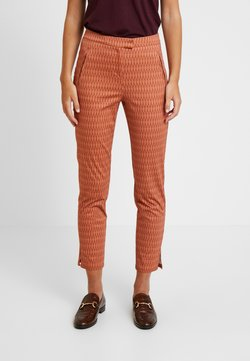 Yargici - FRONT CUT DETAILED TROUSERS - Chinot - bordeaux