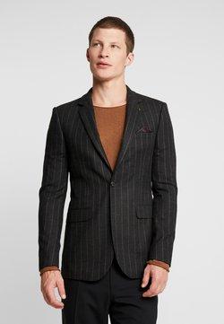 Burton Menswear London - COLLEGE STRIPE SKINNY FIT  - Puvuntakki - grey