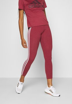 adidas Performance - Tights - bordeaux/white