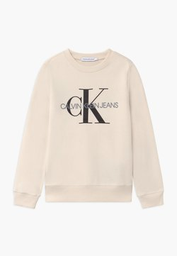 Calvin Klein Jeans - MONOGRAM LOGO UNISEX - Sweater - off-white
