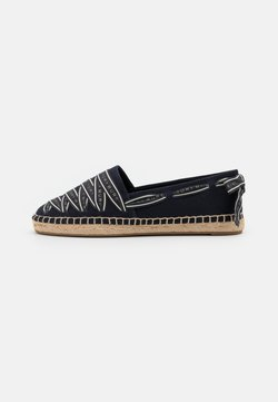 Tory Burch - LOGO GROSGRAIN - Espadrillot - perfect navy/new invory