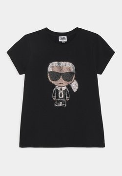 KARL LAGERFELD - SHORT SLEEVES TEE - T-shirt print - black