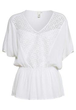 Q/S designed by - BLUSE KURZARM - Blusa - white