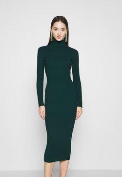 Missguided - ROLL NECK MIDI DRESS - Stickad klänning - forest green