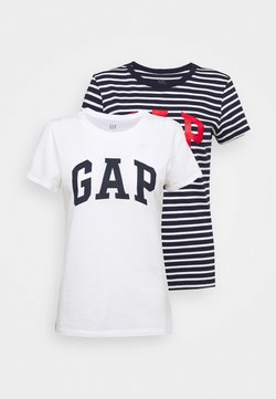 GAP - FRANCHISE TEE 2 PACK - Camiseta estampada - navy