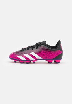 adidas Performance - PREDATOR FREAK .4 FXG UNISEX - Botas de fútbol con tacos - shock pink/footwear white/core black