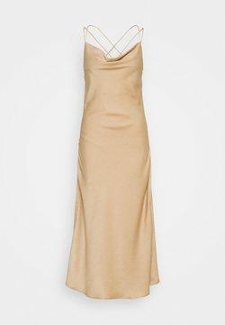 Vero Moda - VMCENTURY OPEN BACK DRESS - Robe de cocktail - gilded beige