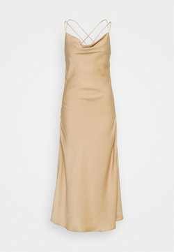 Vero Moda - VMCENTURY OPEN BACK DRESS - Gallakjole - gilded beige