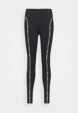 Nike Performance - ONE LUX - Tights - black/purple chalk/clear