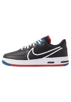 Nike Sportswear - AIR FORCE 1 REACT - Sneaker low - black/dark smoke grey/laser crimson/voltage purple/hyper crimson/aurora green
