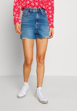 New Look - HIGHRISE MOM  - Jeansshort - blue