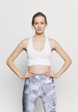 Free People - FREE THROW CROP - Sport-BH mit leichter Stützkraft - white