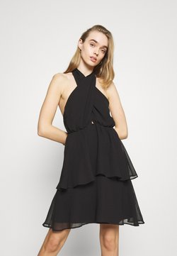 Gina Tricot - EXCLUSIVE MALVA HALTERNECK DRESS - Sukienka koktajlowa - black