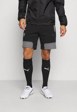 Puma - BVB BORUSSIA DORTMUND  - kurze Sporthose - black/castlerock