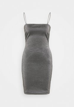 Topshop Tall - BENG 90S SQUARE NECK - Etuikleid - black