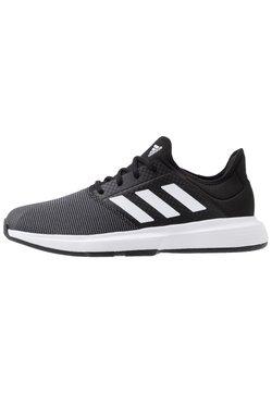 adidas Performance - GAMECOURT BARRICADE CLOUDFOAM TENNIS SHOES - Scarpe da tennis per tutte le superfici - core black/footwear white/grey six