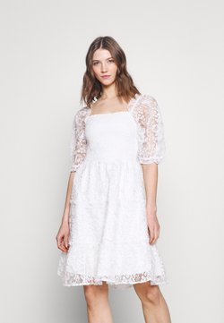 YAS - YASBRIANNA SHORT DRESS  - Day dress - star white