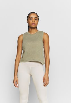 Cotton On Body - ALL THINGS FABULOUS CROPPED MUSCLE TANK - Top - oregano washed