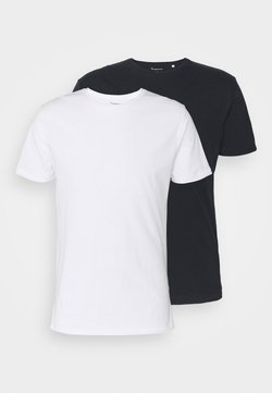 Knowledge Cotton Apparel - ALDER BASIC TEE 2 PACK - Basic T-shirt - blue/white