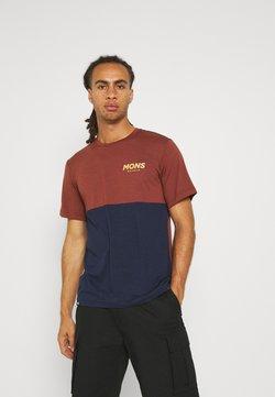 Mons Royale - TARN FREERIDE - T-Shirt print - navy/chocolate