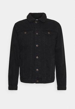 Nominal - BORG JACKET - Veste en jean - black