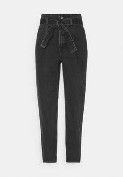 Topshop - PAPERBAG MOM - Jeansy Relaxed Fit - washed black
