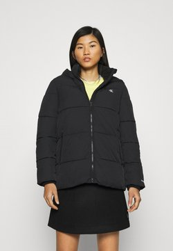 Calvin Klein Jeans - PEACHED HOODED PUFFER - Winterjacke - black