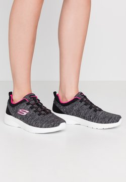 Skechers - DYNAMIGHT 2.0 - Instappers - black/hot pink