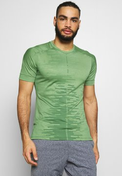 Nike Performance - M NK DRY - T-Shirt print - oil green/galactic jade/black