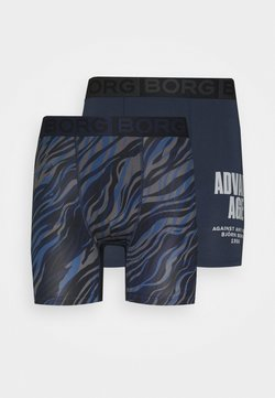 Björn Borg - LAYERING ZEBRA PHILIP SHORTS 2 PACK - Panties - ensign blue