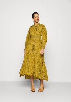 AllSaints - DEMOIR BRODERIE DRESS - Maxikleid - garden olive