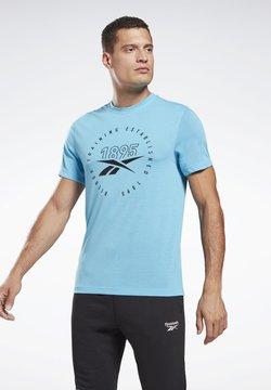 Reebok - TRAINING SPEEDWICK TEE - T-Shirt print - light blue