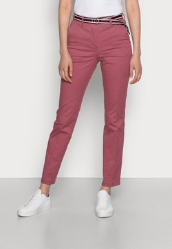 Tommy Hilfiger - HAILEY SLIM PANT - Chinos - misty red