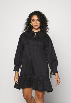 Glamorous Curve - BABYDOLL MINI DRESS WITH SCALLOP COLLAR - Sukienka letnia - black