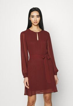 NU-IN - BALOON SLEEVE MINI DRESS - Cocktail dress / Party dress - wine